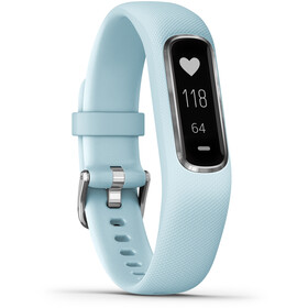 Garmin vivosmart 4 Bransoletka Fitness, light blue/silver
